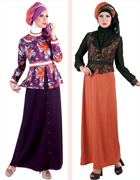Contoh Baju Muslim Gamis Untuk Kerja