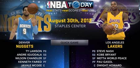 NBA 2K12 Download Roster August 30, 2012