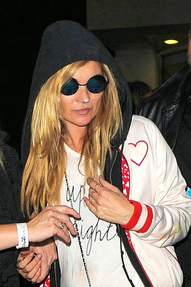 Kate Moss turns into Cara Delevingne for Halloween