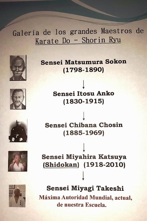 KARATE SHORIN RYU. GRANDES MAESTROS: