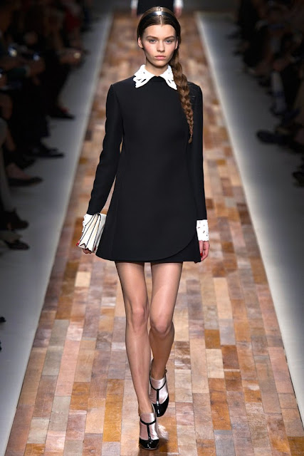 Valentino autumn winter 2013 2014 black mini dress