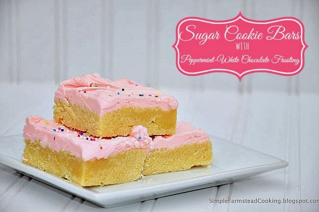 ... Cooking: Sugar Cookie Bars with Peppermint-White Chocolate Frosting