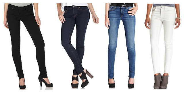 Else Jeans Black, Dark Denim, Light Denim, White