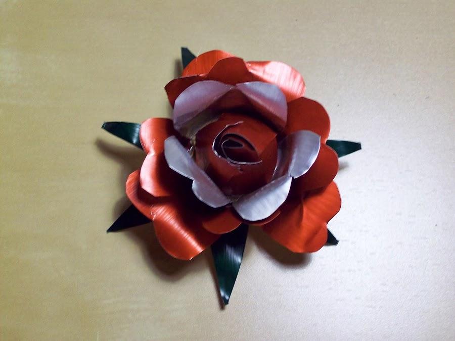 Bisutería reciclada, rosa de cápsulas paso a paso