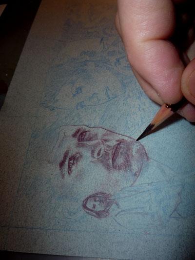Josh Holloway as Sawyer, Sketch Card by Jeff Lafferty