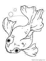 Printable Gold Fish Kids Coloring Sheet