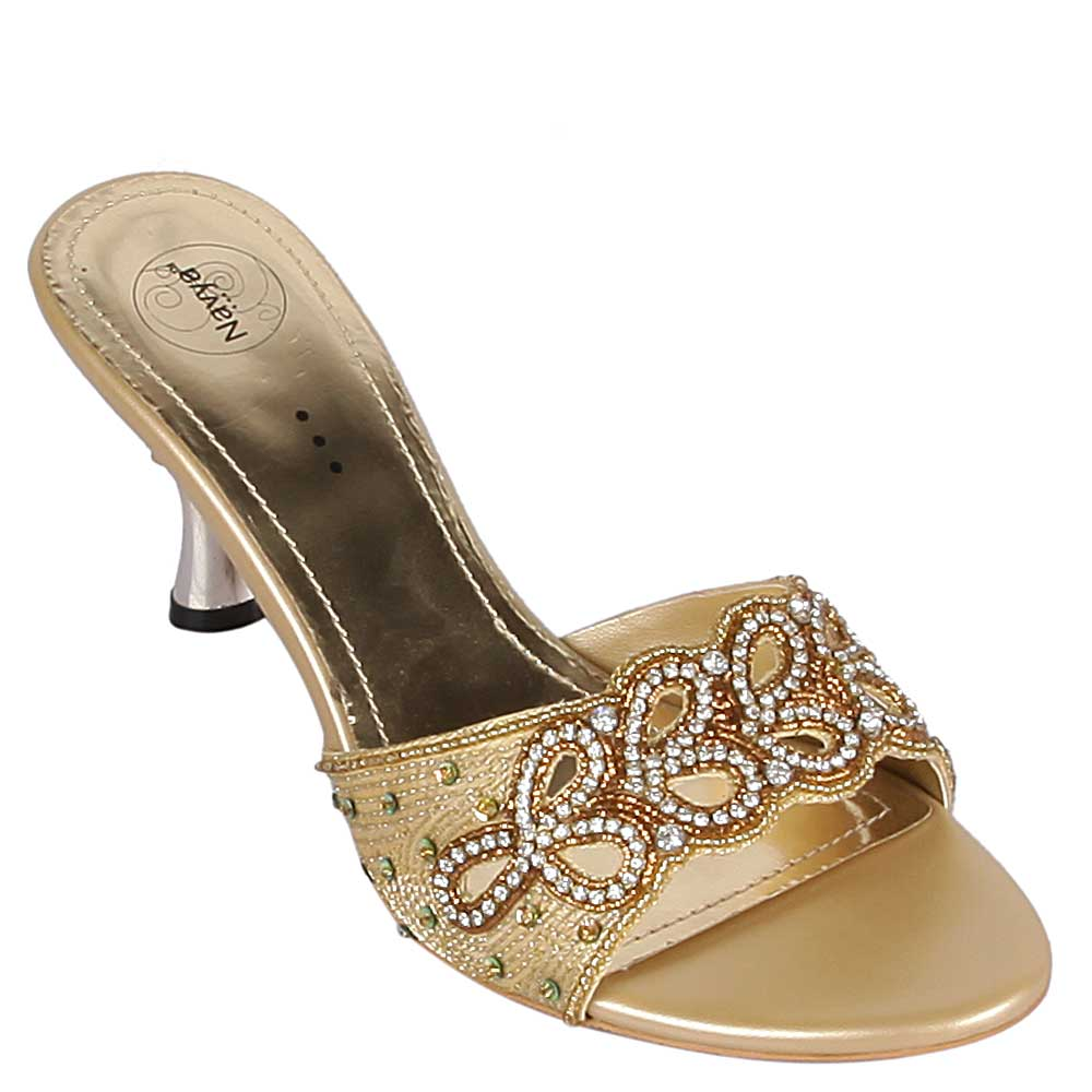 Beautiful Thalia Sodi Pilar Women Fabric Gold Gladiator Sandal Sandals