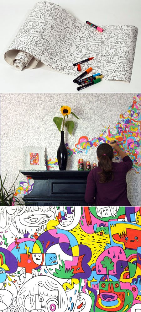 Hip Hostess Unique Wall Paper