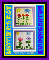 photo of: Mother's Day Kindergarten Gift, handprint for Mother's Day on ceramic tile,