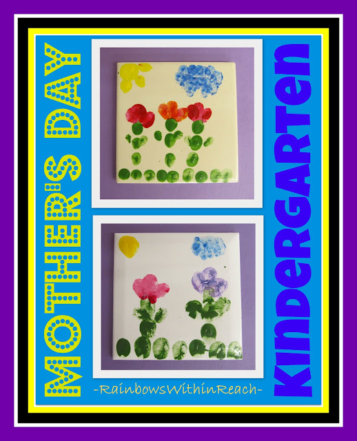 Mother's Day Kindergarten Gift, handprint for Mother's Day on ceramic tile,