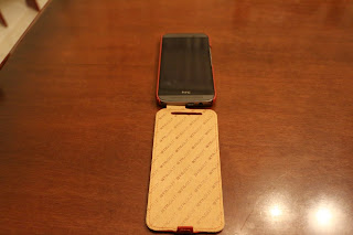 Foto 3 cover HTC One M9 StilGut in pelle cognac