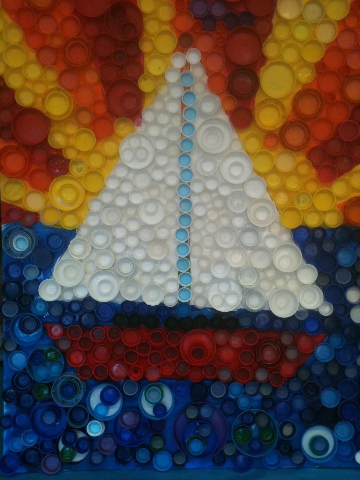 Nancy 39 s art fancies for Bottle cap mural tutorial