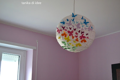 Decorare Lampadario Di Carta : Tanika di idee come decorare un lampadario di carta