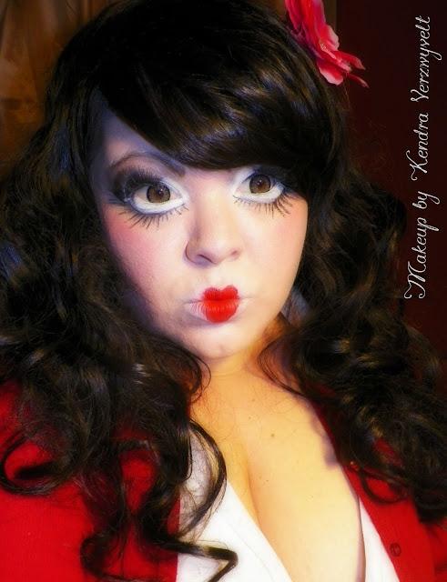 Simply Kendra: Creepy Doll Makeup 2