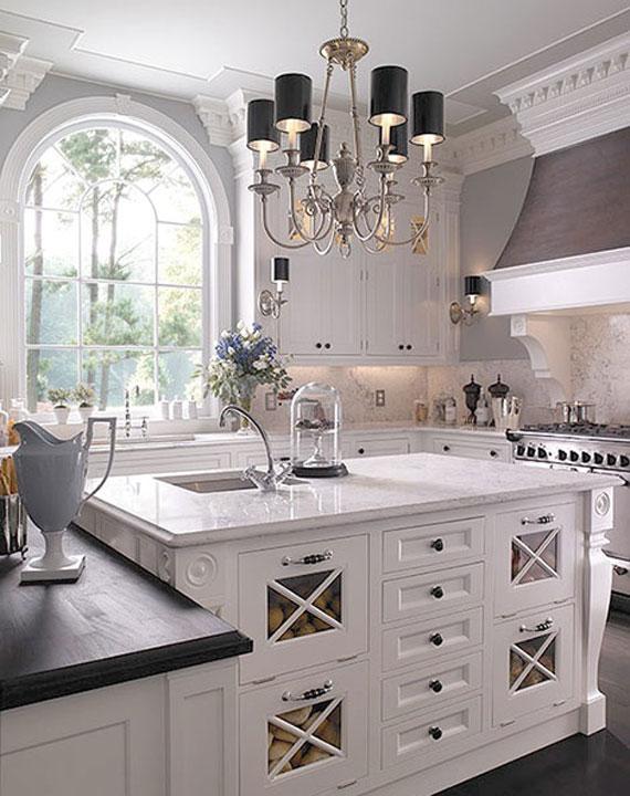 Ev dekorasyon hob beyaz mutfaklar - Beautiful white kitchen designs ...