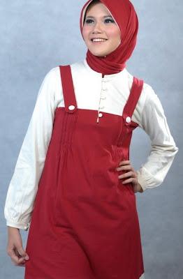 Actual Basic Busana Muslim Merah