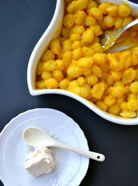 gnocchetti di patate alla crema di zucca e caprino