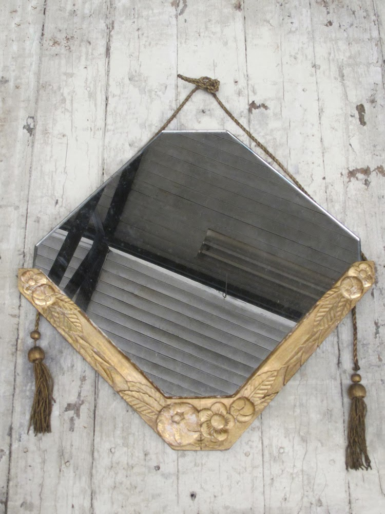 Les Petits Bohemes vintage mirror with tassels