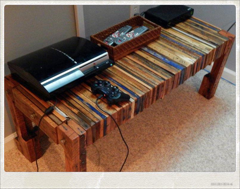 Populares Como fazer mesa para consoles (rack) de madeira de palete, pallete  CQ75