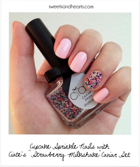 Ciate Bead Nails: Polish Post: Cupcake Sprinkle Nails With Ciaté Caviar Set