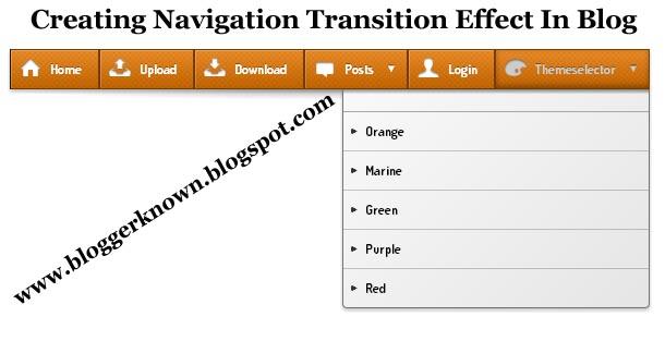 Navigation Menubar for blogger
