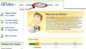 How to write an article in iWriter