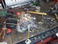 Silnik Babetta demontaż