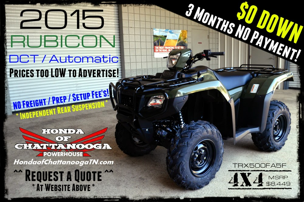 Honda Rubicon 500 For Sale Chattanooga TN GA AL ATV Dealer wholesale