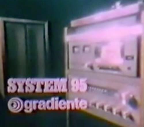 Campanha de lançamento do System 95 da Gradiente: imponente sistema de som para os lares de 1978.