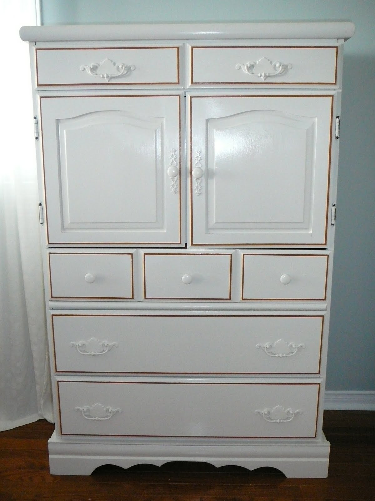Painted Star Tall Dresser