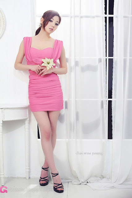2 Chae Eun in Pink  - very cute asian girl - girlcute4u.blogspot.com