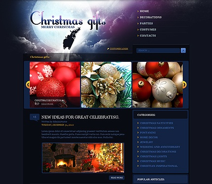Christmas Gifts theme