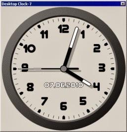 ������� ������ ���� Desktop Clock-7