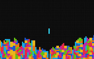 Colorful Blocks Minimal Tetris Game HD Wallpaper