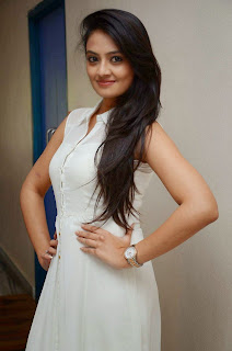 Actress Nikitha Narayan Picture Gallery in White Dress at Ladies and Gentleman Movie Press Meet 42.JPG