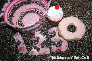 felt food, fabric letters, hand made gift set