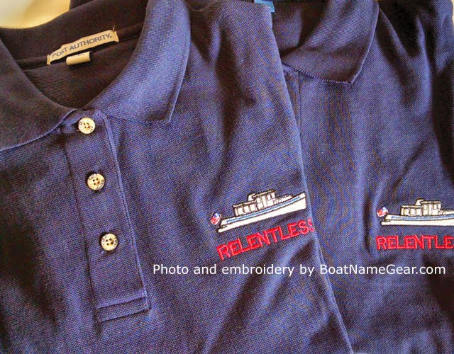 cotton polo with boat name