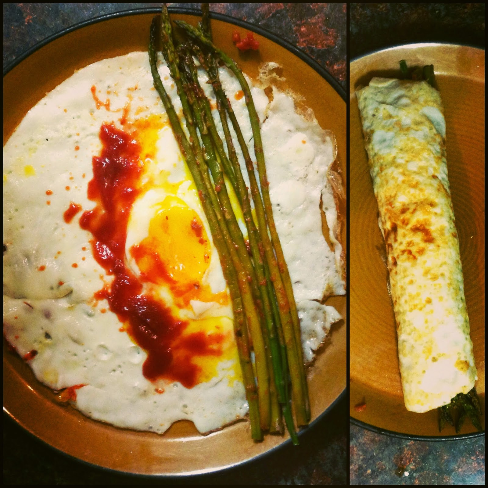 Fried Egg Crepes