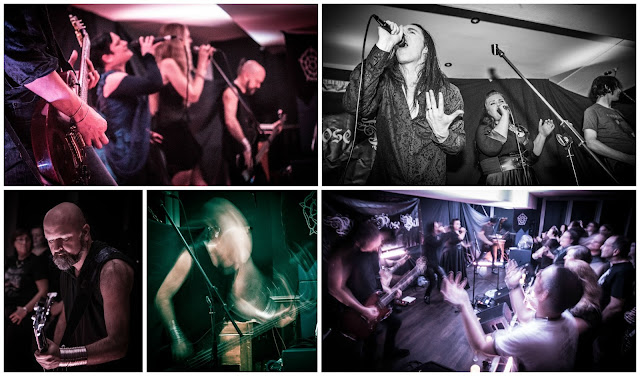 Collage featuring photos from the Black Rose concert - Chris Jones Photography