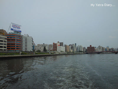 Panoramic views - Sumida river cruise, Tokyo