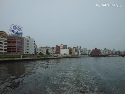 Panoramic views - Sumida river cruise, Tokyo