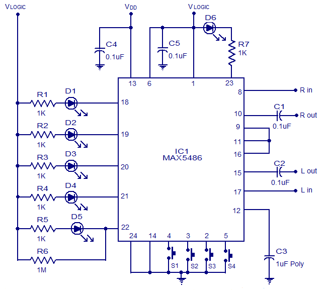 Digital%2BVolume%2BControl%2Bbased%2BIC%2BMAX5486 schematic & wiring diagram digital volume control circuit using volume control wiring diagram at edmiracle.co