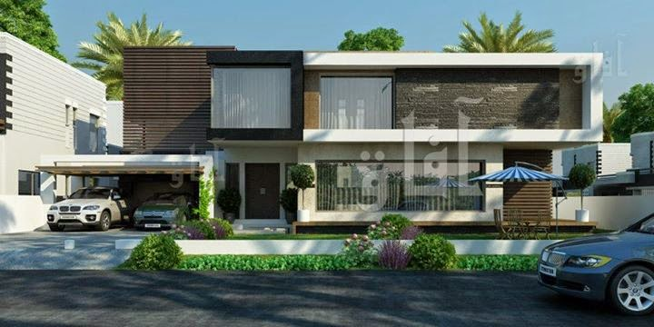 Front Elevation Of One Kanal Houses : Kanal house plan layout d front design