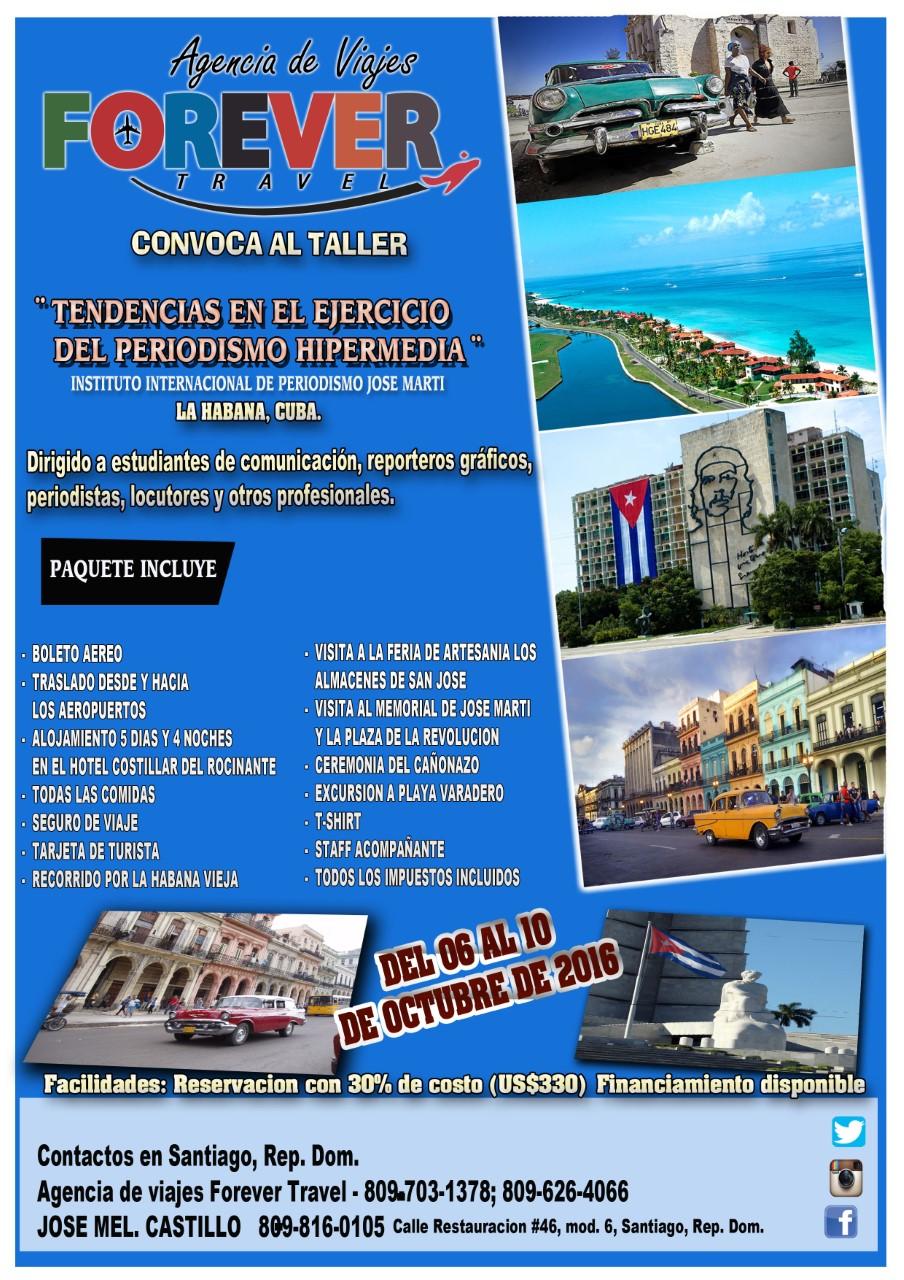 Nos vamos Pa' Cuba, del 6 al 10 de octubre 2016