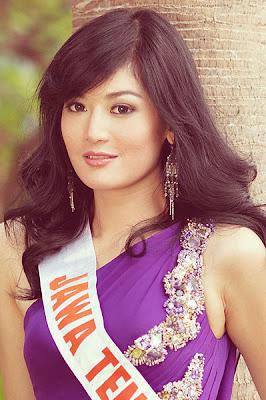 maria selena selebritis jawa tengah putri indonesia 2011