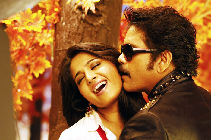 Anushka shetty hot with nagarjuna