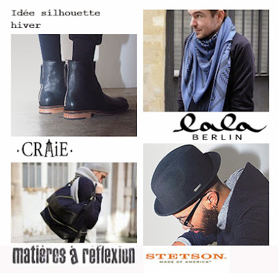 Besace messsenger, chapeau stetson, triangle lala berlin, bottines craie