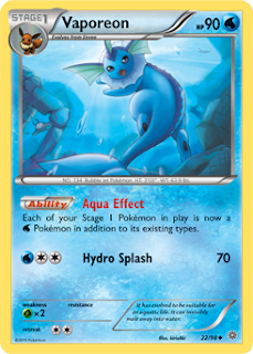 Vaporeon Ancient Origins Pokemon Card