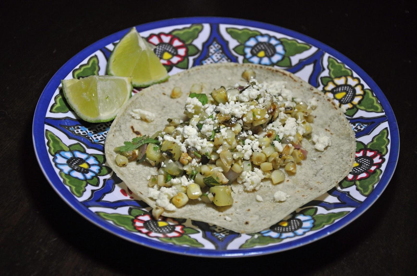 Slice of Rice: Charred Corn and Zucchini Tacos