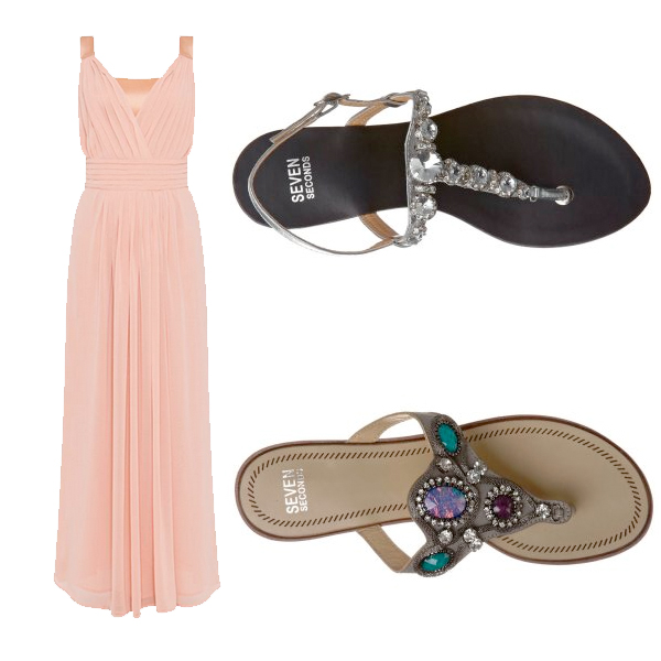 Max & Co Dress, sandals Seven seconds